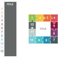 Puzzles 24 (Square 12 Pieces)