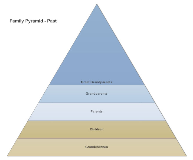 Pyramid chart example - Family