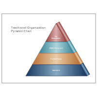 Traditional Organization Pyramid Chart