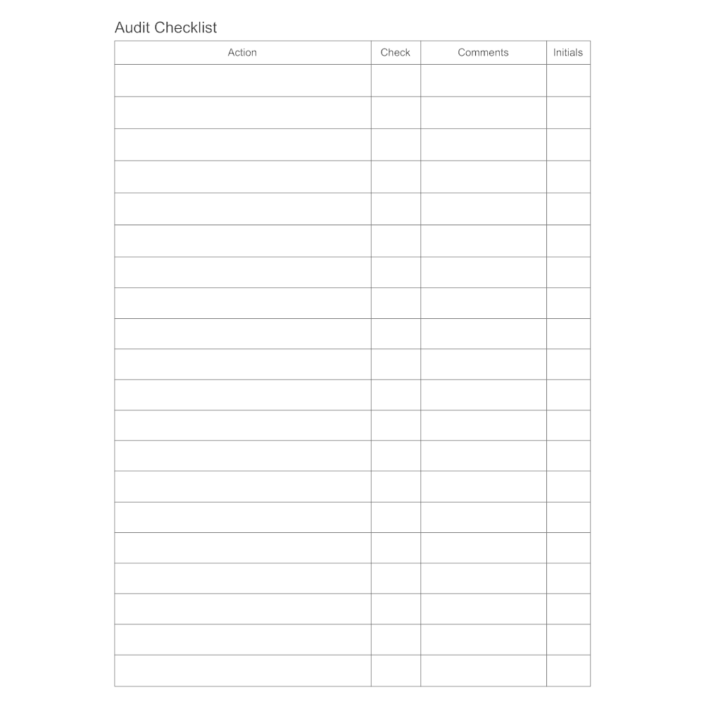 Example Image: Audit Checklist Form