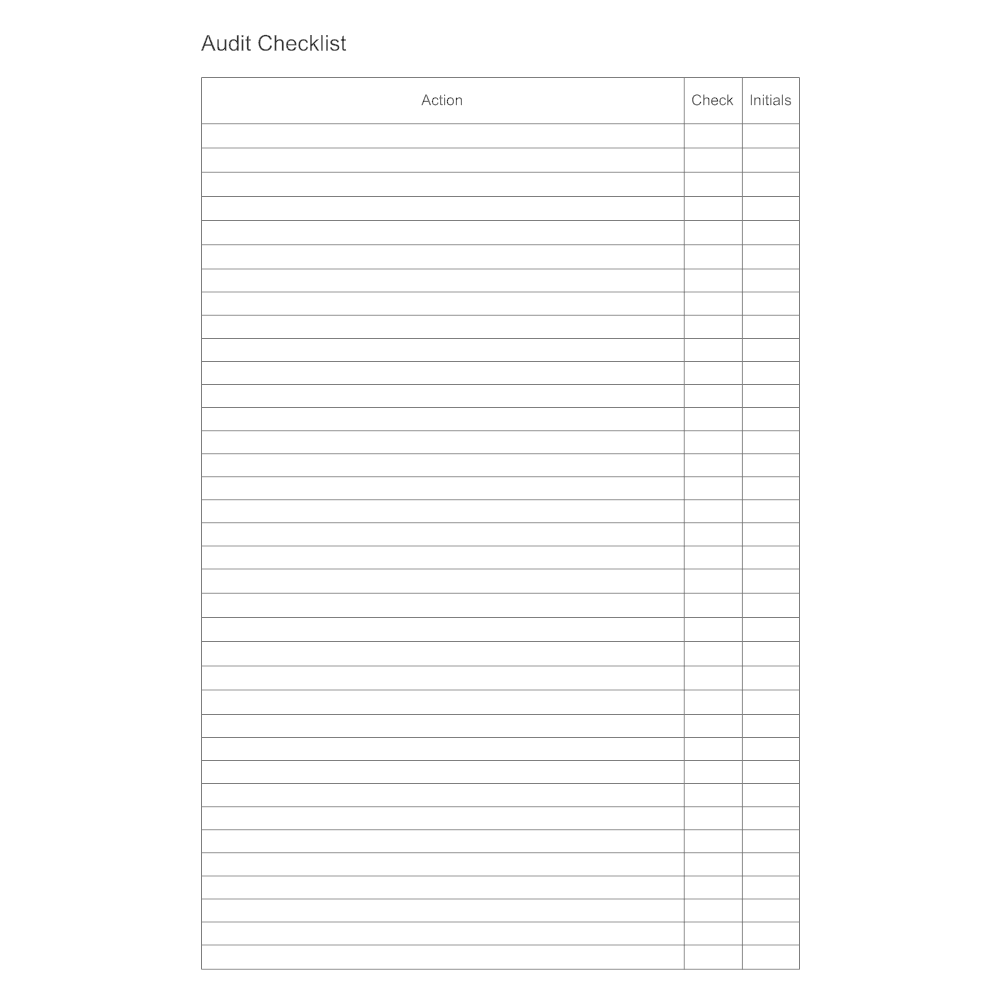 Example Image: Audit Checklist