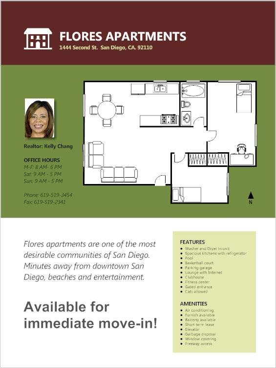 apartment flyer ideas
