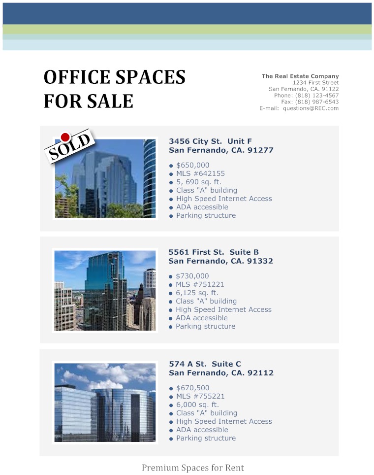 Real Estate Flyer for Office Space