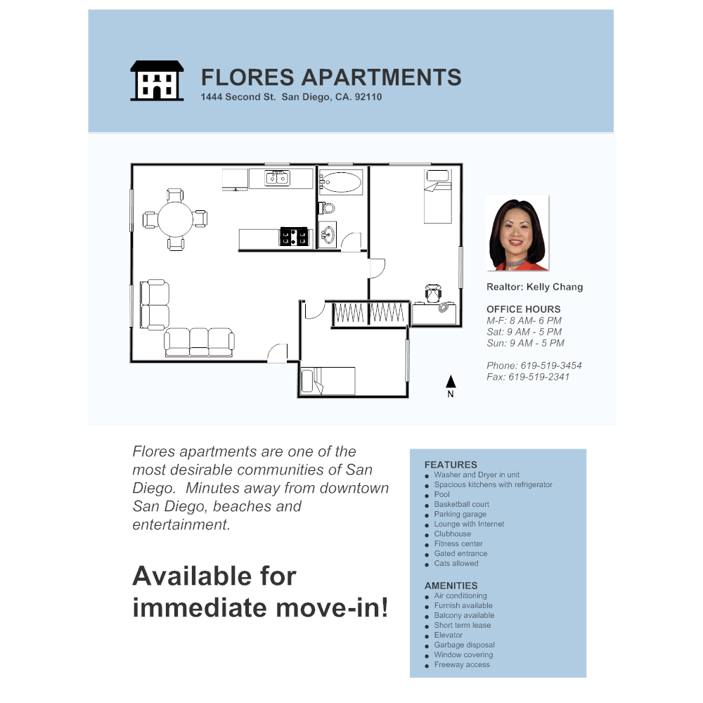 Example Image: Apartment - Real Estate Flyer