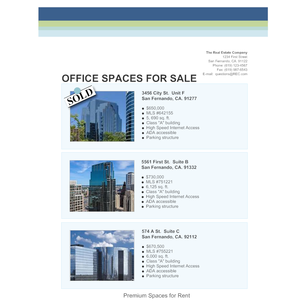 office space real estate flyer