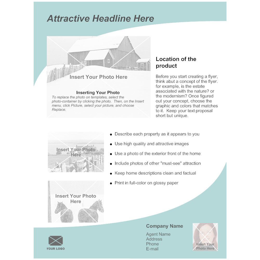 Example Image: Real Estate Flyer Template 3