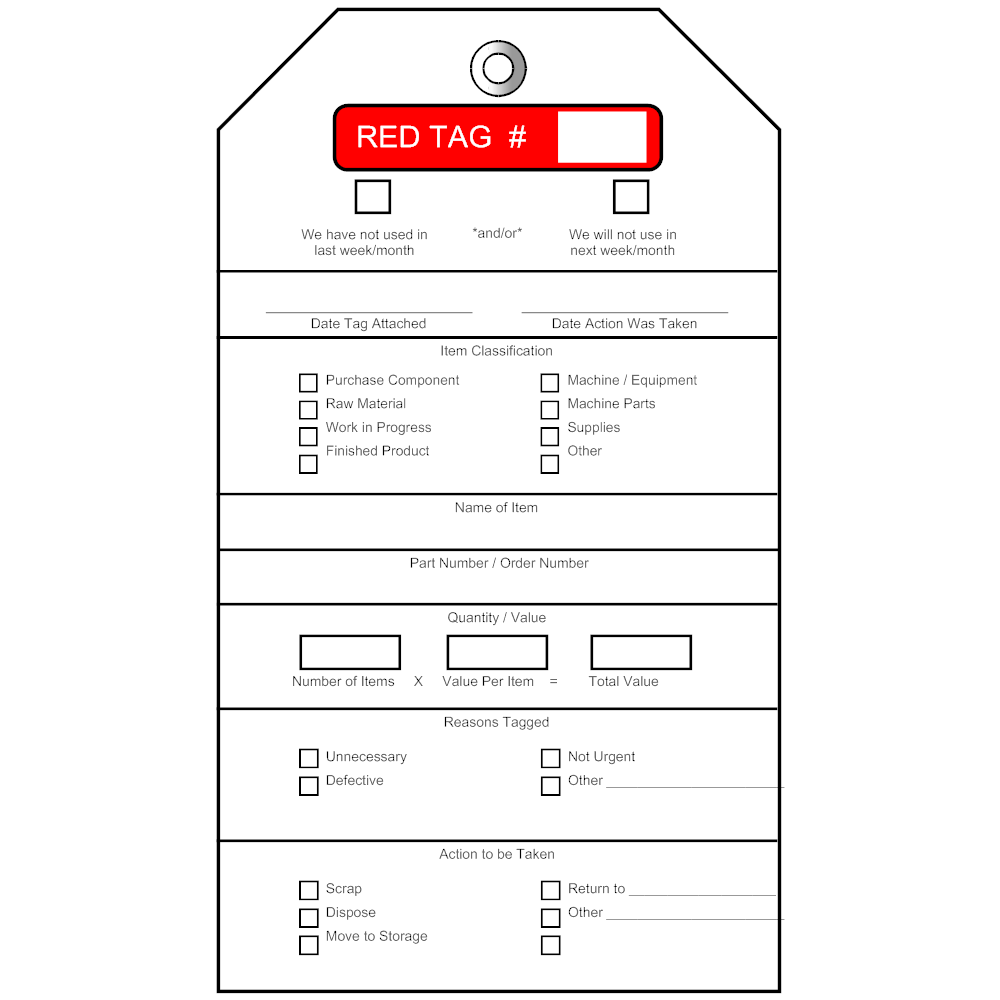 Example Image: Red Tag