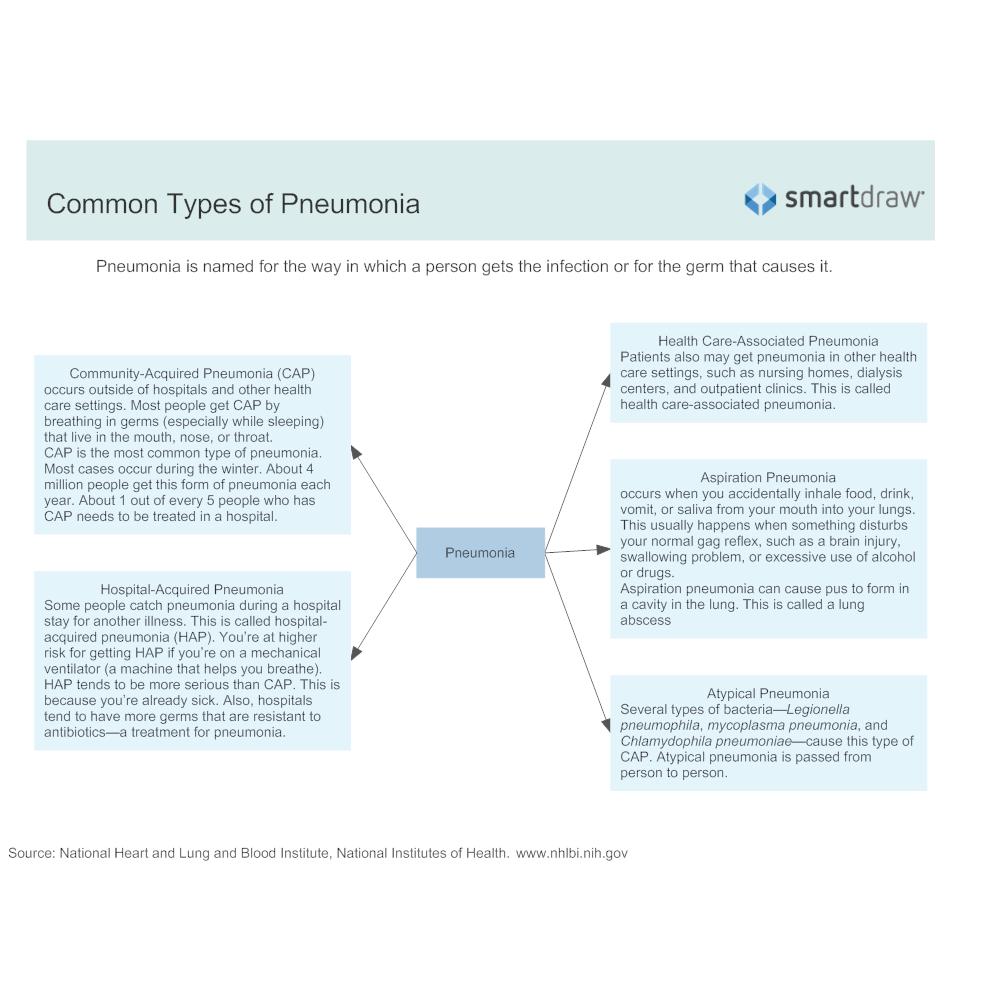 Example Image: Common Types of Pneumonia