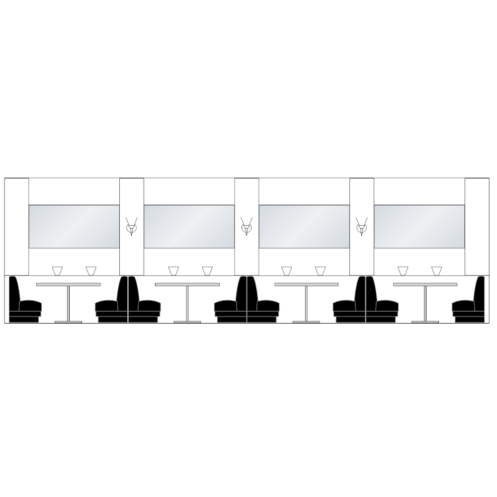 Example Image: Booth Seating - Restaurant Elevation