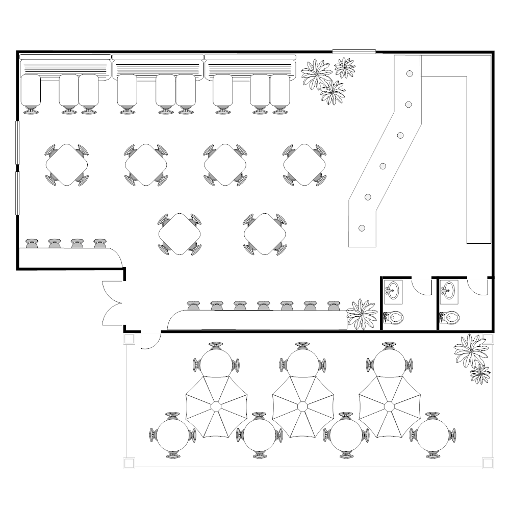 Coffee shop floor plan for Shop design plans