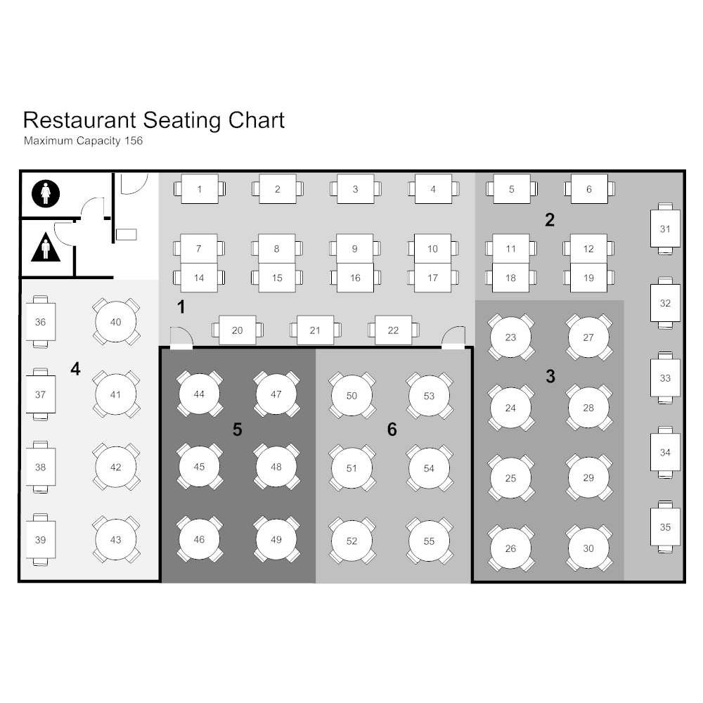 restaurant seating chart template