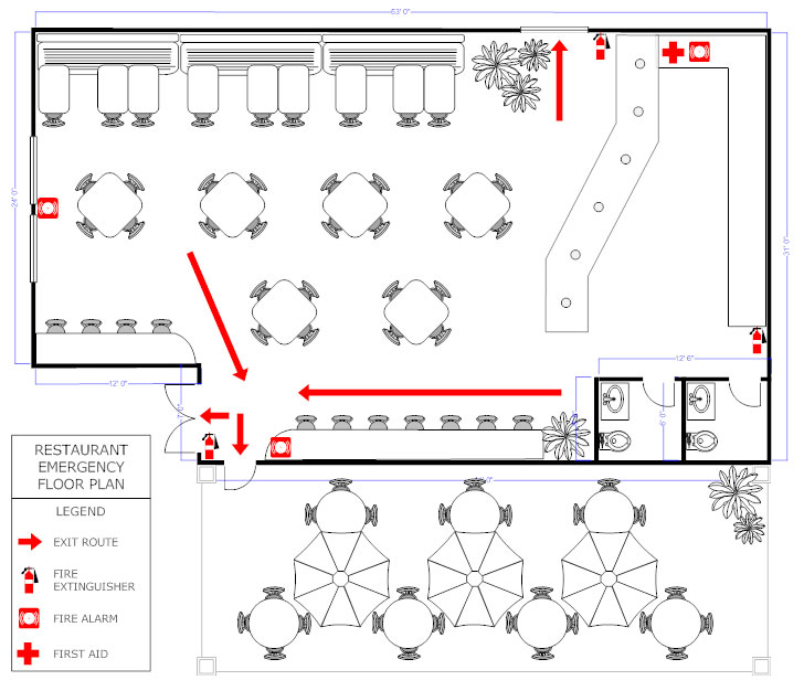 restaurant floor plan how to create a restaurant floor plan see restaurant evacuation floor plan