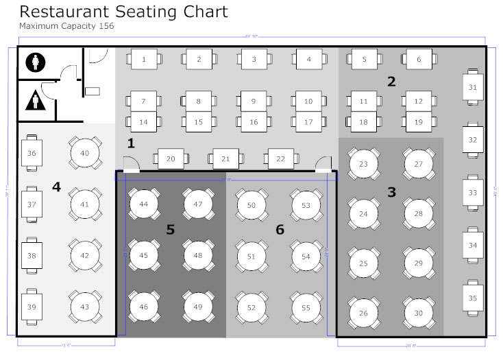 restaurant floor plan how to create a restaurant floor plan see examples tutorial. Black Bedroom Furniture Sets. Home Design Ideas