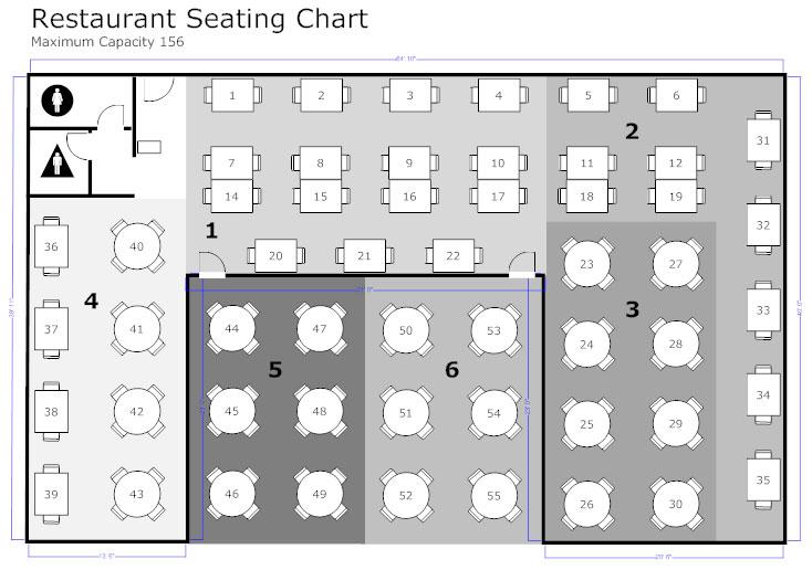 Restaurant Floor Plan - How to Create a Restaurant Floor