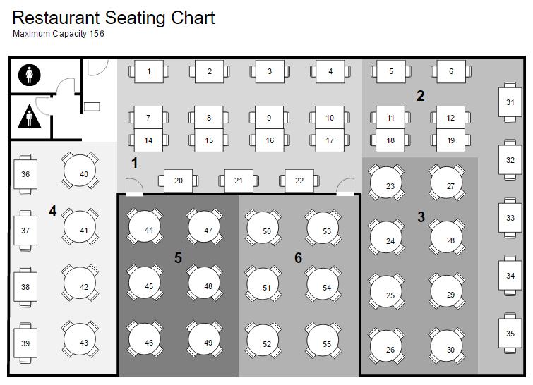 Restaurant floor plan and layout