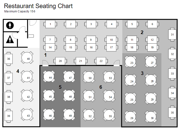 Restaurant floor plan and layout