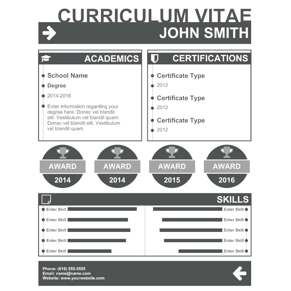 Example Image: Curriculum Vitae 01