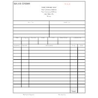 Sales Order Form