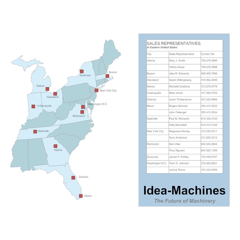 Example Image: Sales Rep Territory Map