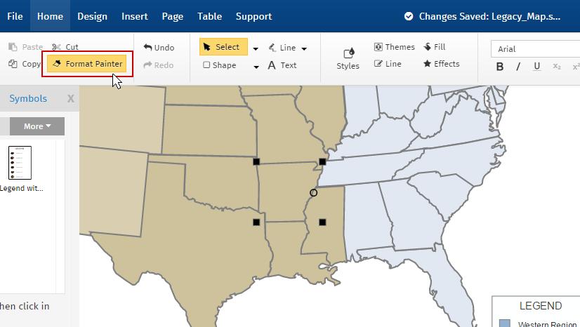 Sales Territory Map Regions