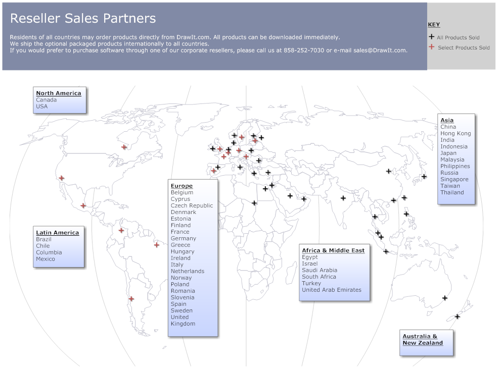 Sales territory mapping software make sales maps with a for Building mapping software
