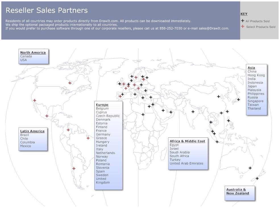 Reseller sales territory map