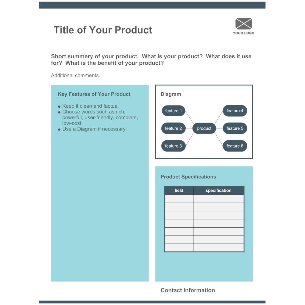 Example Image: Product Sheet 02