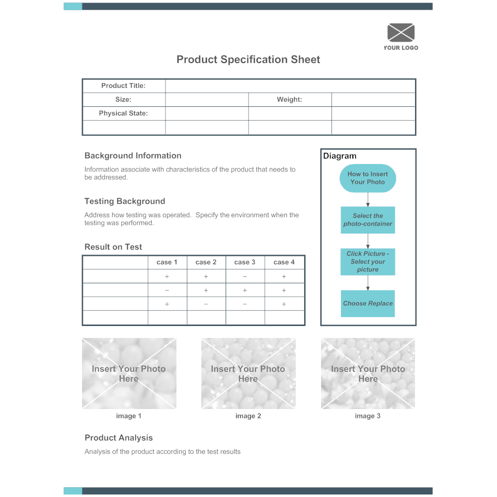 Example Image: Product Specification Sheet 01