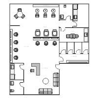 Floor plan examples for Salon floor plan maker