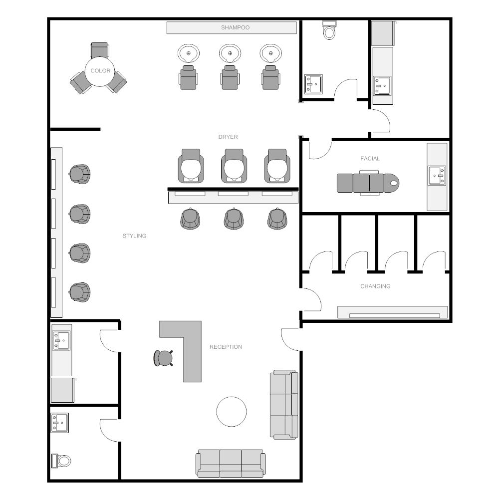Salon floor plan Edit floor plans online