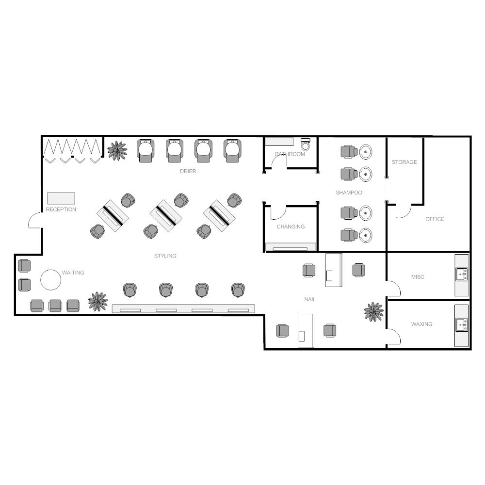 Salon plan for Salon floor plan maker