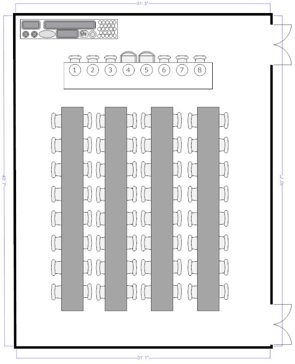 Banquet seating chart