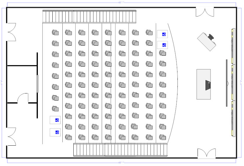Lecture hall seating chart