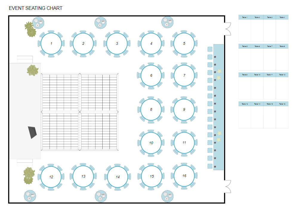 Seating Chart Maker Create Wedding, Seating Chart For Round Tables
