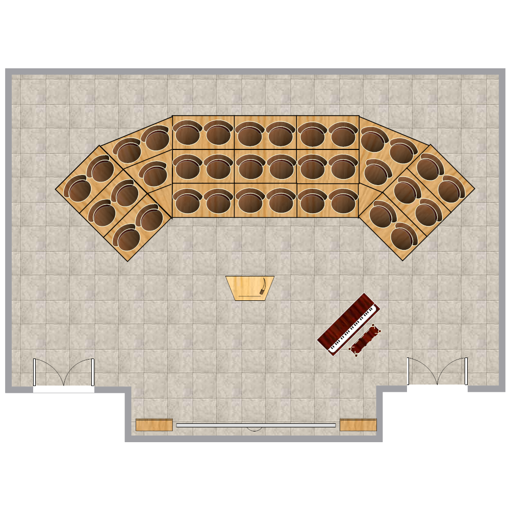 Example Image: Choir & Orchestra Room Plan