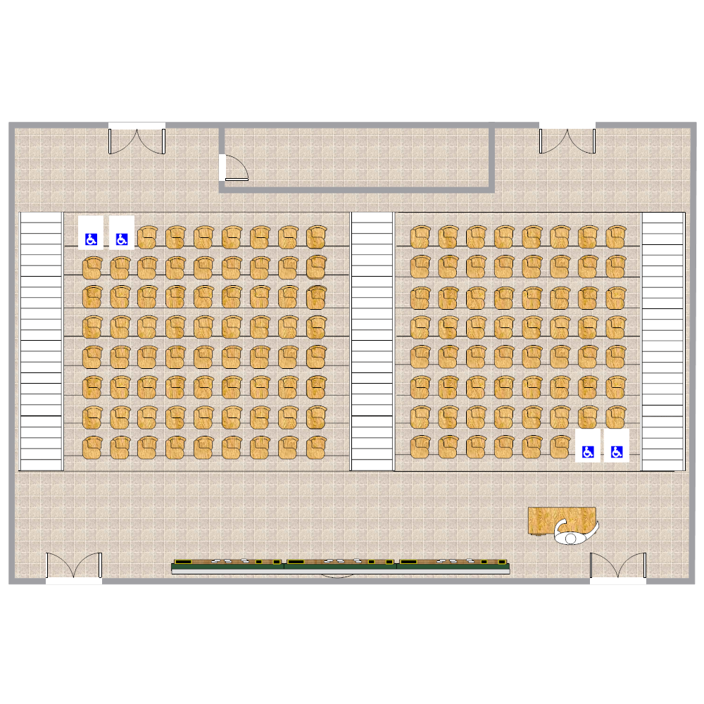 Example Image: Lecture Hall Layout