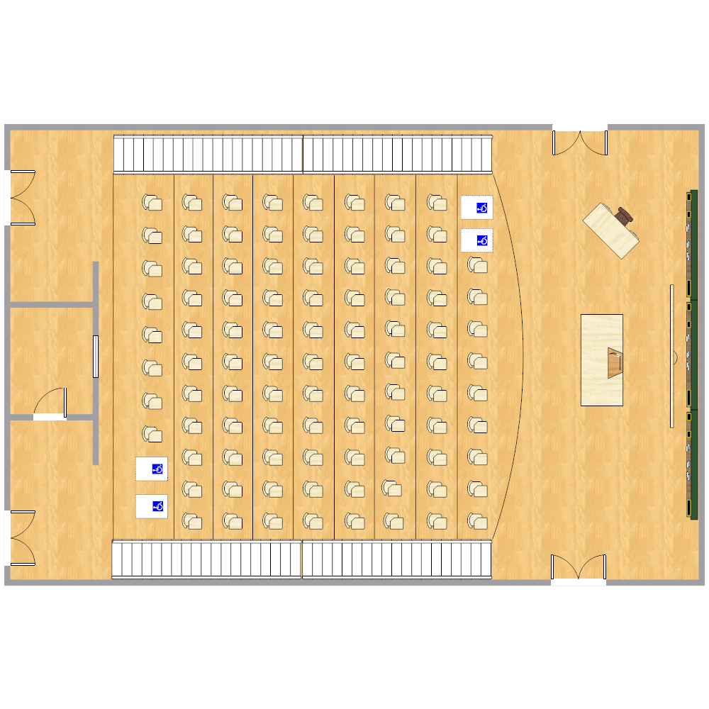 Example Image: Lecture Hall Seating Chart