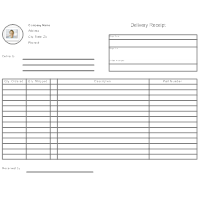 delivery log template