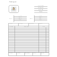 shipping forms templates