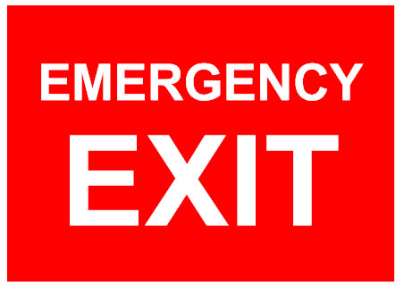 Emergency exit sign template