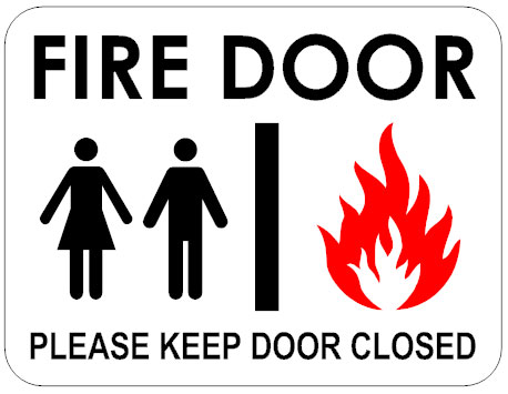 Fire door sign template