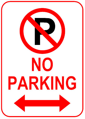 No parking sign template