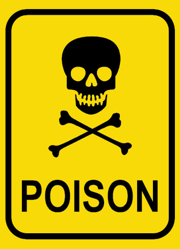 Poison sign template