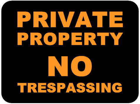 Private property sign template