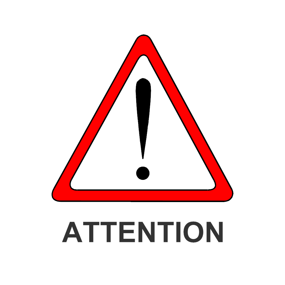 Example Image: Attention Sign