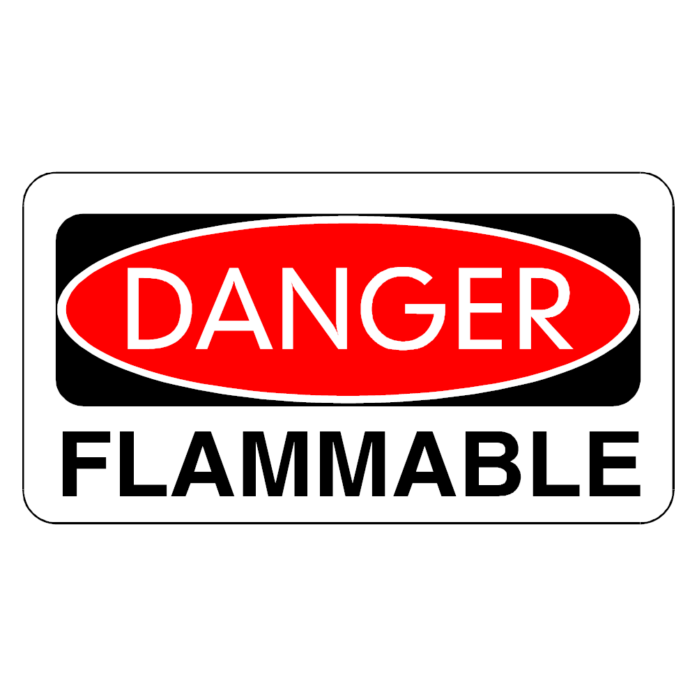 Example Image: Danger Flammable Sign
