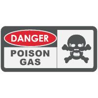 Danger - Poison Gas Sign