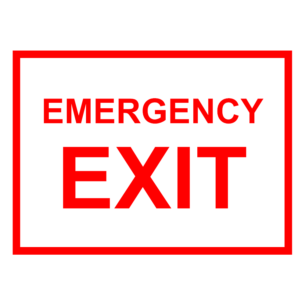 Example Image: Emergency Exit Sign