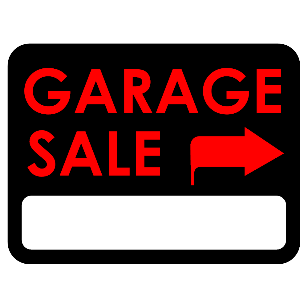 Example Image: Garage Sale Sign