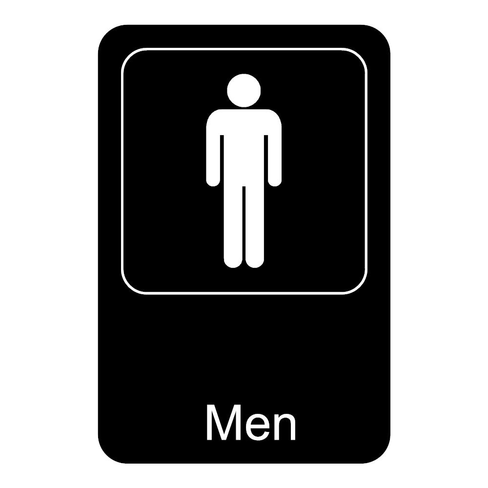 Example Image: Men Restroom Sign